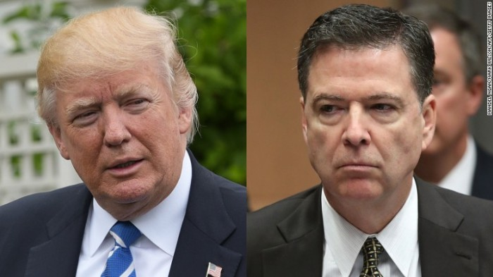 Trump Comey split scrren Mandel Ngan Mark Wilson Getty AFP