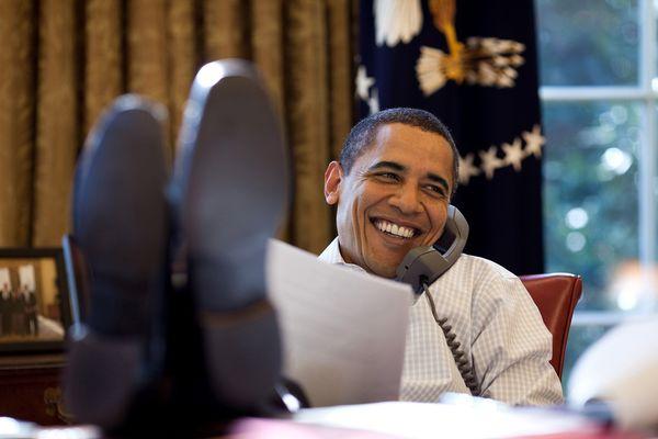 Obama Phone Pete Souza White House