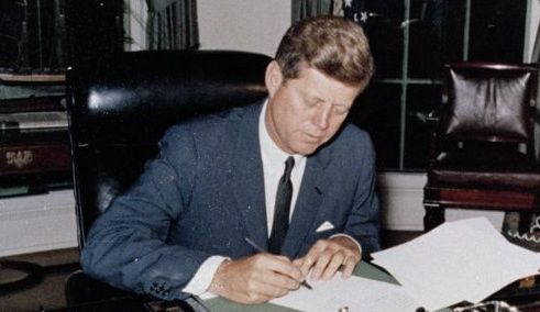 JFK writing