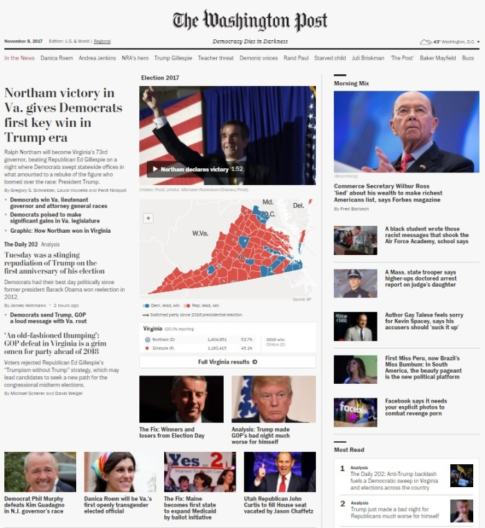 WaPo 11.8.17 Post Election Day