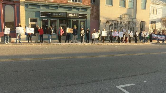 Protesters+at Christianburg VA Eamon O'Meara