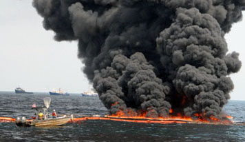 In-Situ burning of oil